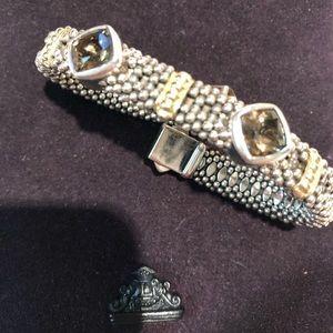 Lagos Smoky Quartz Caviar Bracelet